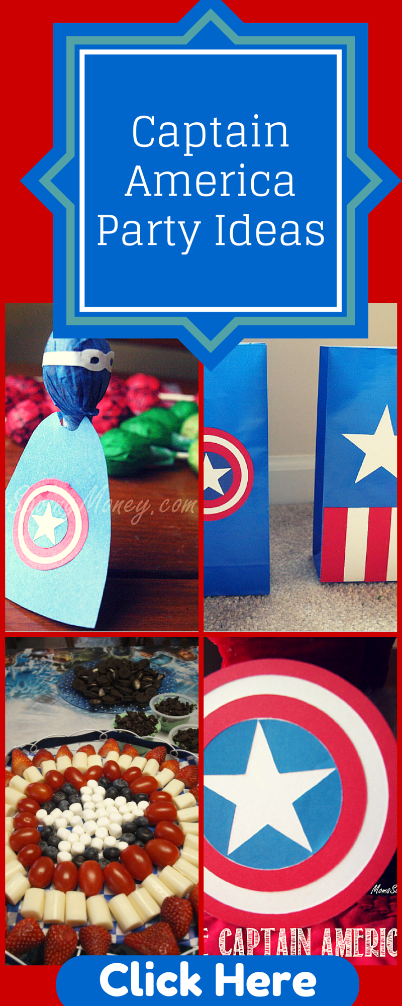 Captain America Party Ideas Rebecca Autry Creations