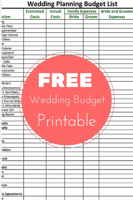 FREE Wedding Planning Budget Checklist Printable Rebecca ...