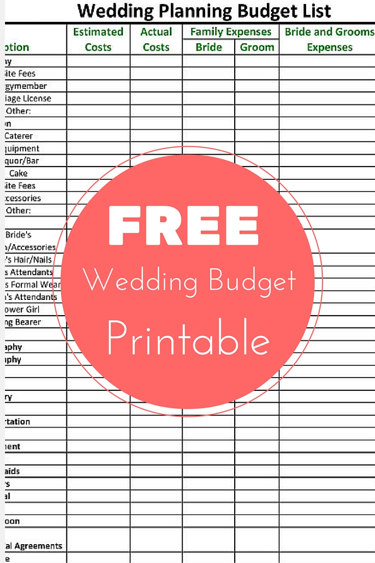 free wedding planning budget checklist printable rebecca autry creations. Black Bedroom Furniture Sets. Home Design Ideas