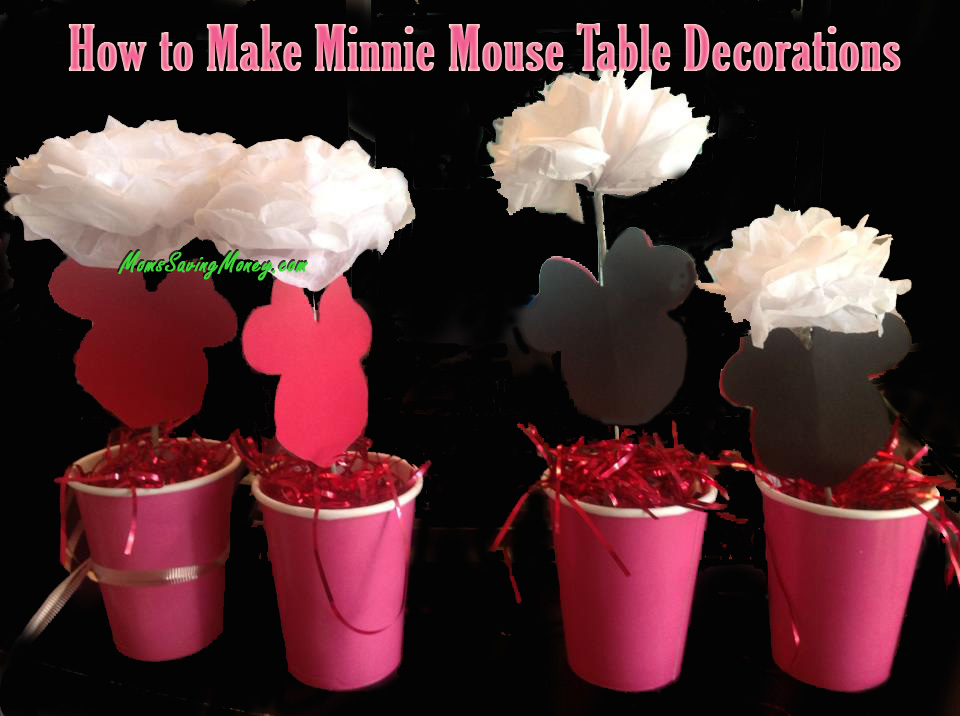 How to Make Minnie Mouse Table Decorations Rebecca Autry Creations