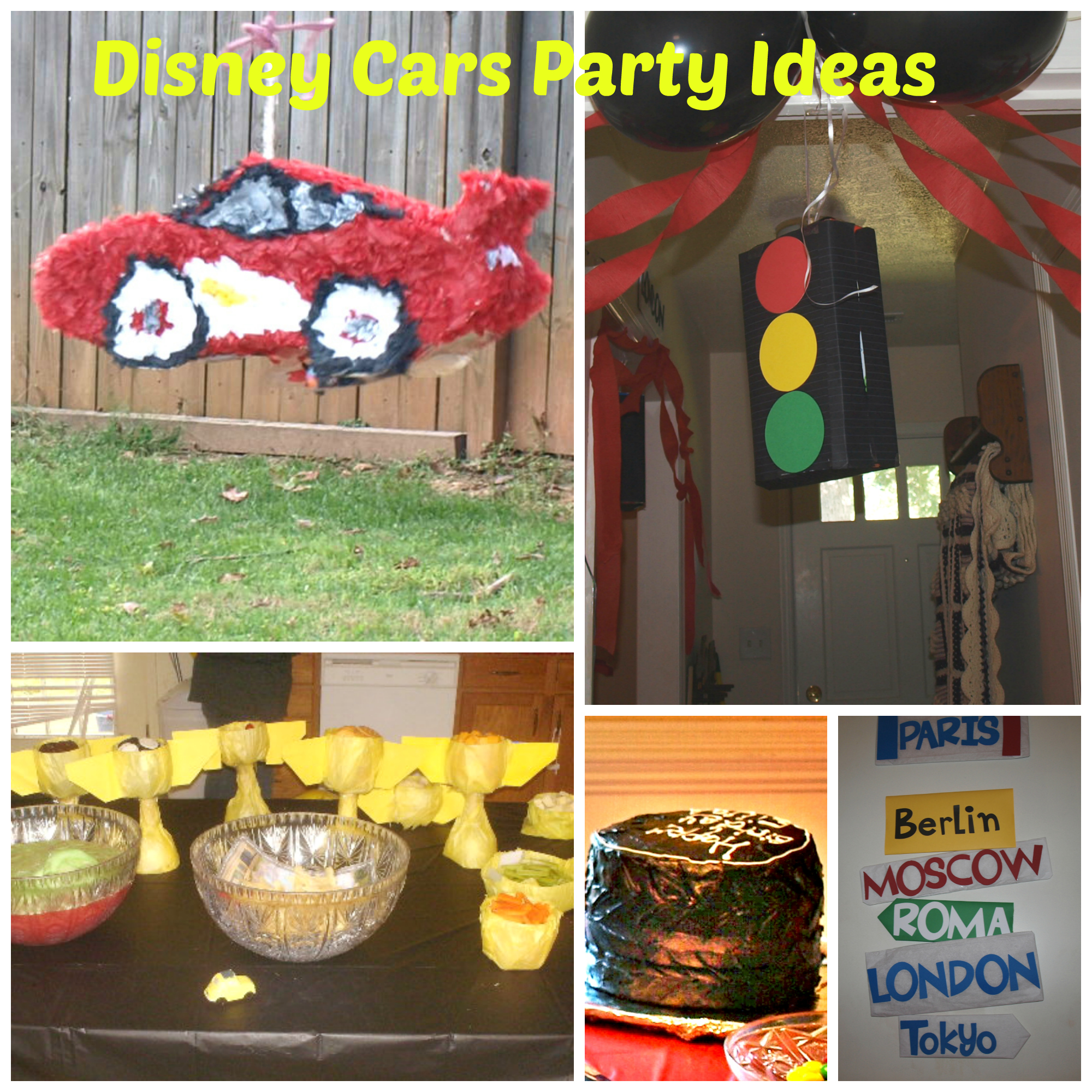 Disney cars party ideas rebecca autry creations