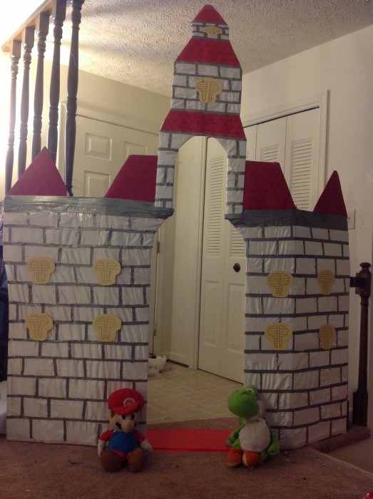 how to build a cardboard castle for a school project
