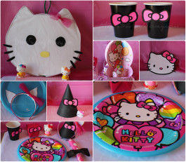 Themed party ideas rebecca autry creations for Decoration hello kitty chambre