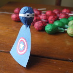 Captain America Lollipop favor